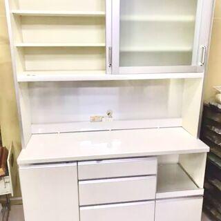 パモウナ140cm 食器棚 キッチンボード【引き取り限定】