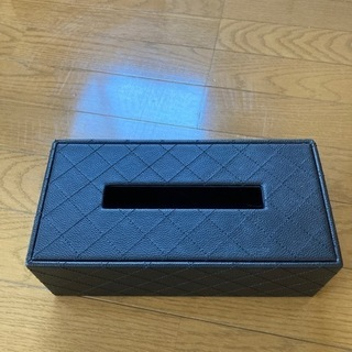 美品 合皮ティッシュBOX 黒