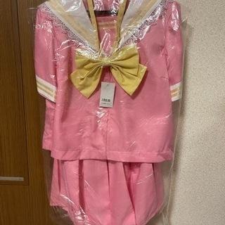 未使用品 コスプレ ゆめかわ ピンクなセーラー服 制服 ハ…