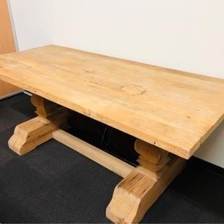 【ネット決済】テーブル 1枚板 椅子4脚付