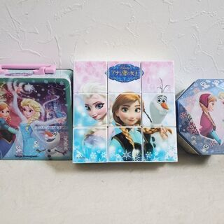 アナと雪の女王 パズル・ディズニー空き缶セット
