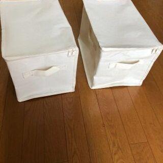 収納ボックス2個 布製 カラーボックス対応サイズ