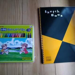 色鉛筆&スケッチブック(A4)