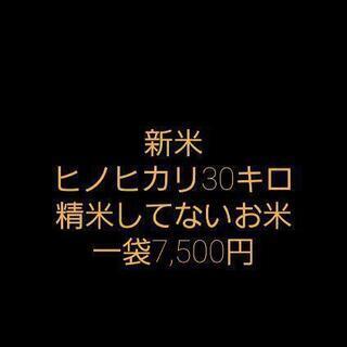 新米 ヒノヒカリ 30キロ