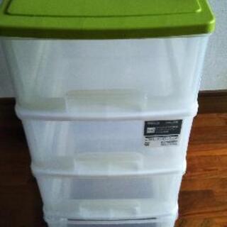 4段式引き出しプラスチックケース