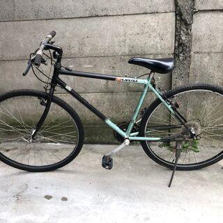 460CROSS クロスバイク 700×38c グリーン×ブラック