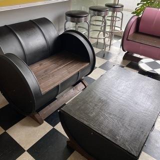 ドラム缶ベンチテーブルセット
