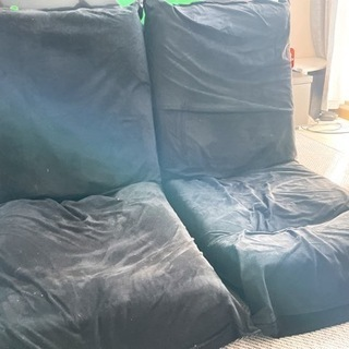 座椅子 黒 二つセット