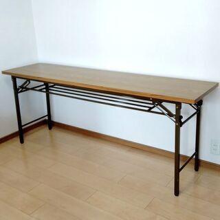 折りたたみ長テーブル180x45cm