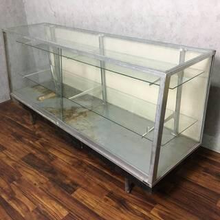 ⭕⭕⭕PH5/50 ガラスショーケース 難あり 鉄枠 W182×...