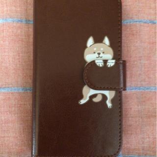 iPhone5 5s SE(第一世代) 手帳型ケース  柴…