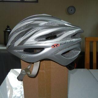 自転車ヘルメット シルバー色 フリーサイズ