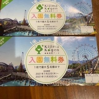 城島高原パーク 入園無料券 1枚300円