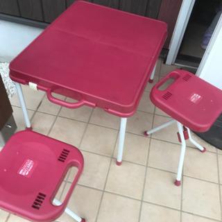 ●折りたたみテーブル と椅子付き アウトドア キャンプ用