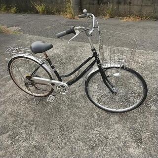 26インチ 黒 アサヒ自転車 外装6段変速