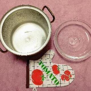 【超レトロ】銅製万能煮込み鍋(ガラス蓋付)