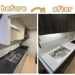 西区新町にてキッチン入替え、床貼り替え工事さして頂きました。