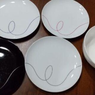 【引越のため売切】Francfrancプレート皿4枚+大丼皿の計...