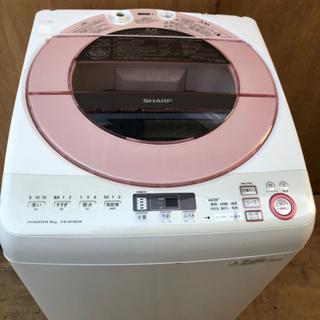 【中古】ES-GV80R-P 洗濯機8kg