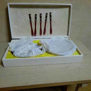 鎌倉彫り フォークセット 未使用
