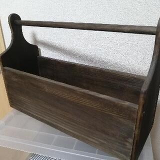 初心者ハンドメイド 木製のカゴ