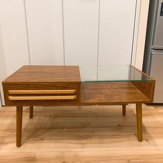 半ガラス ローテーブル