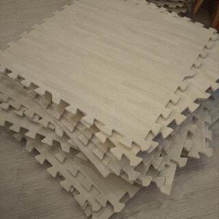 木目 60×60 ジョイントマット ホワイト