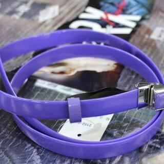 【ネット決済・配送可】[640円■大特価■エナメルベルト■紫色■...
