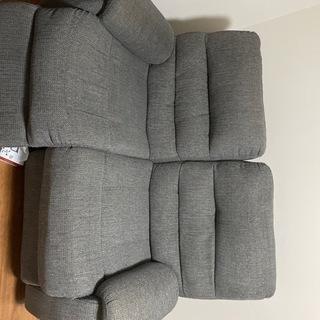ニトリ2人掛けリクライニングソファ