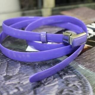 アオキ特価■[在庫僅か ■セール■エナメルベルト■紫色■ロ…