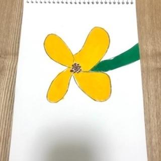 アクリルガッシュ 絵画 金木犀 キンモクセイ