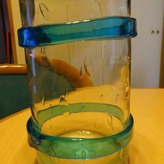 【中古品】花瓶(ガラス製)