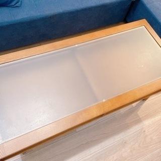 ガラス板ローテーブル