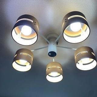 照明 ウッドシャンデリア LEDシーリングライト