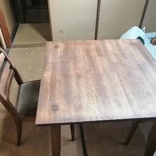 【ネット決済・配送可】ウィスキーオークテーブル 80WBR
