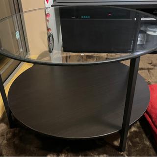 IKEA ガラステーブル 丸