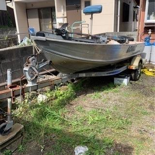バス釣り アルミボート トレーラーセット