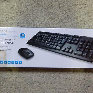 🍎未使用 エレコム【マウスセット】 ワイヤレス フルキーボ…