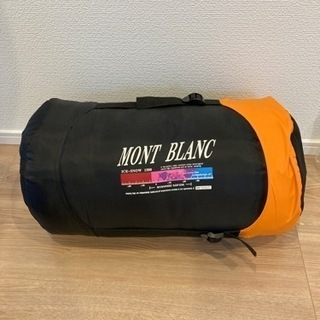 美品‼️MONT BLANC寝袋 シェラフ キャンプ