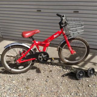 18インチ 赤色子供用マウンテンバイク[Jeep]