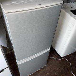 No.1122 SHARP 137L 2ドア冷蔵庫 2017年製