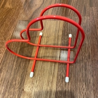 ハート型 まな板スタンド 赤 スチール