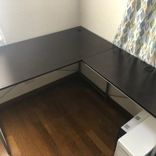 【あげます】L字のパソコンデスクです!サイズは写真2から!