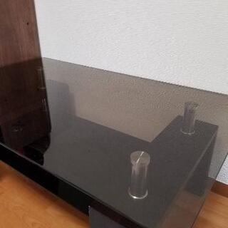 ガラステーブル&サイドテーブル