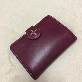 日本職人 鮮やか本革がま口折り財布パープル