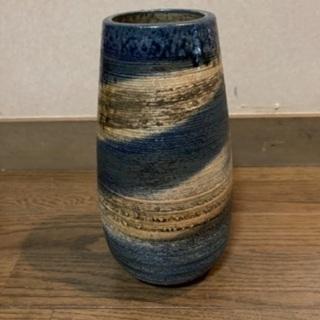 花瓶 マーブル ブルー系
