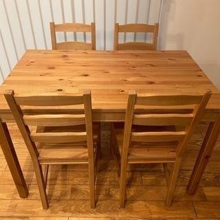 【ネット決済】ダイニングテーブルセット IKEA