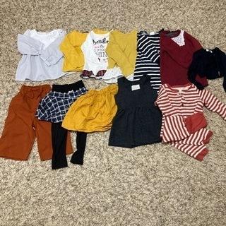 女児服12枚【秋冬100㎝】新品未使用含む
