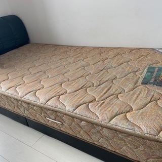 【マットレス付】シングルベッド
