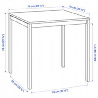 IKEA ダイニングテーブル 白 MELLTORP 75cm